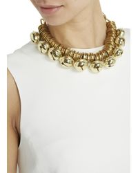 Moxham - Metallic Roma Bell Embellished Gold Plated Necklace - Lyst