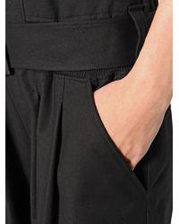 Y-3 | Black Thick Cotton Flight Suit | Lyst