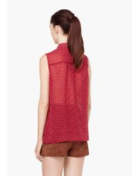 Mango | Red Flowy Pocket Blouse | Lyst