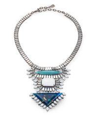 DANNIJO | Metallic Josephine Crystal Bib Necklace | Lyst