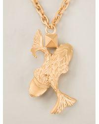 Valentino - Metallic Pisces Pendant Necklace - Lyst