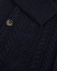 Ted Baker - Blue Cable Knit Cardigan for Men - Lyst