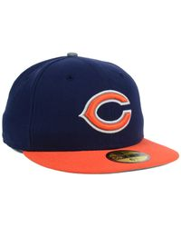 KTZ - Blue Kids' Chicago Bears Thanksgiving On-Field Reflective 59Fifty Cap for Men - Lyst