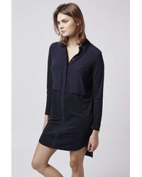 TOPSHOP | Blue Hybrid Shirt Dress | Lyst