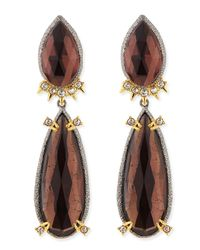 Alexis Bittar - Green Elements Double-Pear Clip-On Earrings - Lyst
