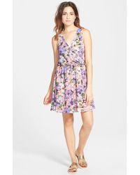 Lush - Pink 'kylie' Skater Dress - Lyst