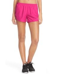 Nike | Pink 'modern Tempo' Embossed Running Shorts | Lyst