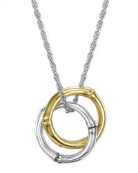 John Hardy - Metallic Bamboo Gold Silver Small Round Pendant Necklace for Men - Lyst