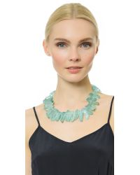 Kenneth Jay Lane | Stone Statement Necklace - Green | Lyst