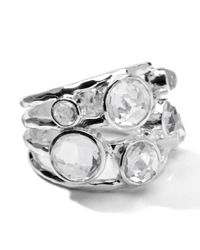 Ippolita - Metallic Sterling Silver Rock Candy Constellation Ring In Clear Quartz - Lyst