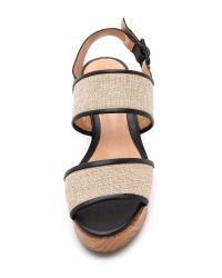 Schutz | Emiliany Flatform Sandals - Bambu/black | Lyst