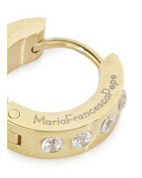 MFP MariaFrancescaPepe - Metallic 23kt Gold-plated Hoop Earrings - Lyst