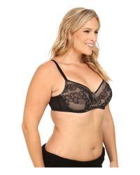 Natori | Black True Decadence Full Figure Cut & Sew Underwire Bra 734097 | Lyst