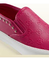 Gucci - Pink Board Slip-on Sneaker - Lyst