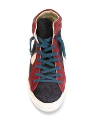 Philippe Model - Blue Suede High-Top Sneakers for Men - Lyst