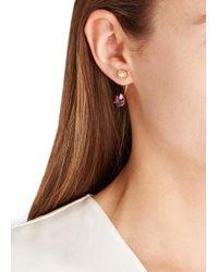 MFP MariaFrancescaPepe - Metallic 23Kt Gold Plated Swarovski Earring - Lyst