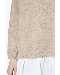 French Connection | Natural Clara Layered Oversized Ruffle Jumper | Lyst