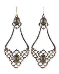 Alexis Bittar | Metallic Elements Open-Lace Teardrop Earrings | Lyst