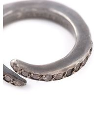 Rosa Maria | Metallic Curved Diamond Ring | Lyst