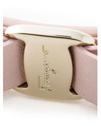Ferragamo | Pink 'Vara' Bow Bracelet | Lyst