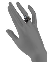 Ippolita Metallic Rock Candy Black Tie Semi-precious Multi-stone & Sterling Silver Cluster Ring