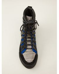 Damir Doma - Black Layered Hitop Sneakers for Men - Lyst