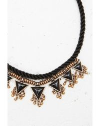 Forever 21 - Black Twisted Triangle Statement Necklace - Lyst
