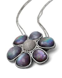 Stephen Dweck | Purple Verona Mother-of-pearl & Icy Diamond Short Flower Necklace | Lyst