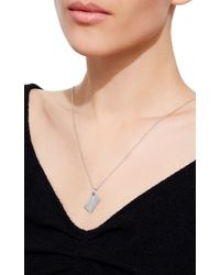 Sidney Garber - Metallic 18k White Gold Love Letter Envelope Necklace - Lyst