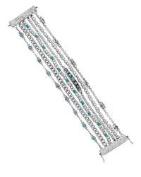 Lucky Brand Blue Stone Multi-Row Beaded Bracelet