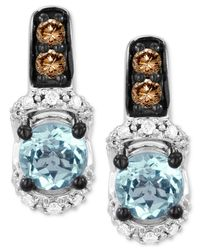 Le Vian | Blue Aquamarine (7/8 Ct. T.w.) And Diamond (1/4 Ct. T.w.) Earrings In 14k White Gold | Lyst