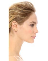 Jennie Kwon | Metallic Long Curved Bar Stud Earring | Lyst