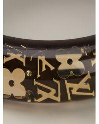 Louis Vuitton - Brown Gold Logo Bracelet - Lyst