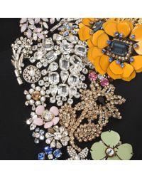 Alexander McQueen | Black Embroidered Open Back Dress | Lyst