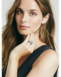 Free People | Metallic Womens Classic Signet Ring | Lyst