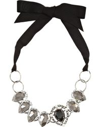 Lanvin | Black Cassiopee Gunmetal-tone Crystal Necklace | Lyst