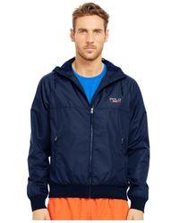 Polo Ralph Lauren | Blue Polo Sport Solid Full-zip Windbreaker for Men | Lyst