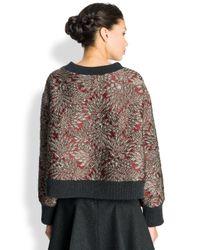 Dolce & Gabbana Metallic Jacquard Knittrim Top