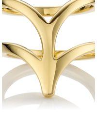 Smith/grey | Metallic Gold Ella Midi Ring | Lyst