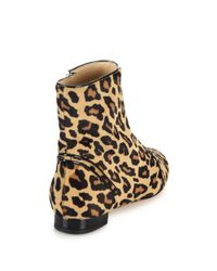Charlotte Olympia Brown Puss In Boots Calf-Hair Ankle Boots