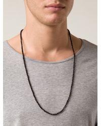 Joseph Brooks - Black Beaded Onyx Necklace for Men - Lyst