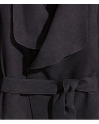 H&M Black Felt Jacket