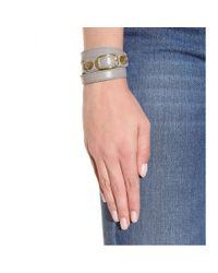 Balenciaga Gray Giant Leather Bracelet