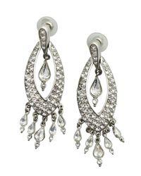Ben-Amun - Metallic Silver And Green Open Circle Drop Earring - Lyst