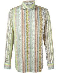 Etro | Green Multi Print Shirt for Men | Lyst