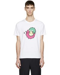 KENZO - White Logo Splash T-shirt for Men - Lyst