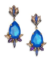 Erickson Beamon | Blue Talitha Cosmic Code Crystal Drop Earrings | Lyst