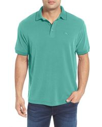 Tommy Bahama | Green 'new Pebble Shore' Short Sleeve Polo for Men | Lyst