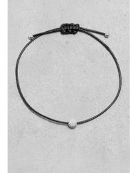 & Other Stories | Black Threaded Ball Bracelet | Lyst