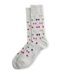 Hot Sox | Gray Bow Tie Crew Socks for Men | Lyst